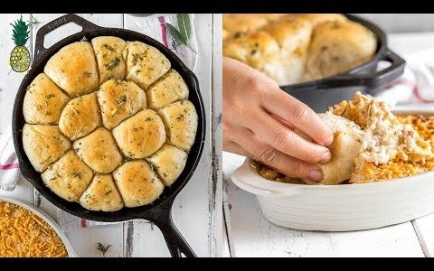 Herbed Pull-Apart Bread + French Onion Dip | Vegan Holiday Recipes