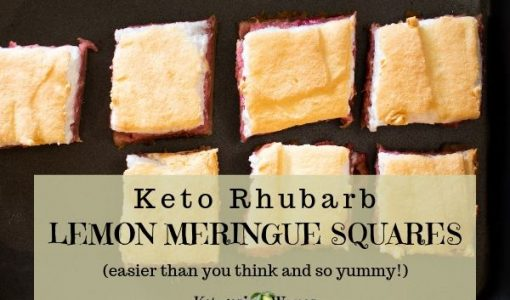 Keto Rhubarb Lemon Meringue Squares From My Grandma's Kitchen!