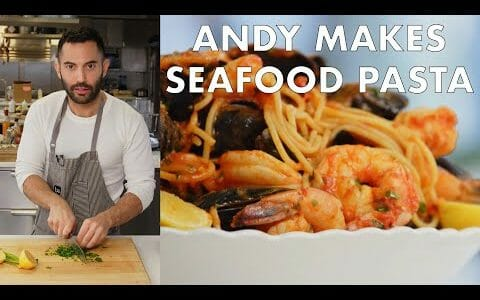 Andy Makes Seafood Pasta   From the Test Kitchen   Bon Appétit