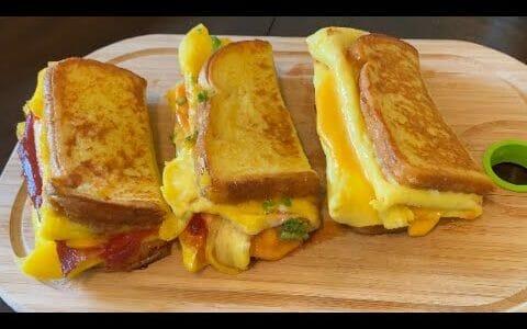 One Pan Egg Toast - Three Ways | Korean Style French Toast Omelette | Breakfast Egg Recipes
