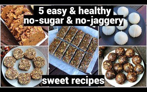 5 healthy no sugar sweet recipes   diabetic recipes   बिना शक्कर के मिठाई   sugarless diet desserts